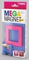 Dahle Mega Magnet Square, aimant Néodyme, carré, rose