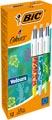 Bic stylo bille 4 Colours Velours, boîte de 12 pièces en couleurs assorties