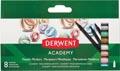 Derwent viltstift Academy Metallic Markers, blister van 8 stuks in geassorteerde kleuren