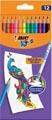 Bic Kids crayon de couleur Illusion Evolution, 12 crayons en étui cartonné