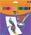 Bic Kids crayon de couleur Illusion Evolution, 24 crayons en étui cartonné