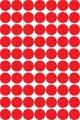 Apli étiquettes rondes en pochette diamètre 19 mm, rouge, 560 pièces, 70 par feuille