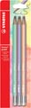 STABILO Swano pastel potlood, HB, met gom, blister van 6 stuks in geassorteerde kleuren