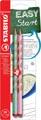 STABILO EASYgraph S Pastel potlood, HB, 3,15 mm, blister van 2 stuks, voor rechtshandigen, groen en roze