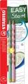 STABILO EASYgraph Pastel crayon, HB, 3,15 mm, blister de 2 pièces, pour gauchers, vert et rose