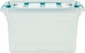 Whitefurze Carry Box boîte de rangement 13 litres, transparent avec poignées bleu