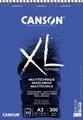 Canson album XL Mix Media 300 g/m² ft A3, bloc de 30 feuilles