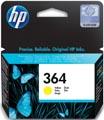 HP inktcartridge 364, 300 pagina's, OEM CB320EE#301, geel, met beveiligingssysteem