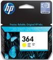 HP inktcartridge 364, 300 pagina's, OEM CB320EE, geel