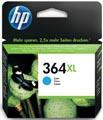 HP inktcartridge 364XL, 750 pagina's, OEM CB323EE, cyaan