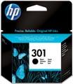 HP inktcartridge 301, 190 pagina's, OEM CH561EE#301, zwart, met beveiligingssysteem