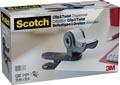 Scotch clip & twist dérouleur de ruban adhésif, +4 rouleaux Scotch Magic tape, gris charbon de bois