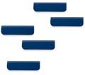 Durable Durafix zelfklevende magneetklem, 60 mm, pak van 5 stuks, donkerblauw