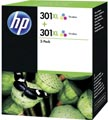 HP inktcartridge 301XL, 330 pagina's, OEM D8J45AE, 3 kleuren, duopack