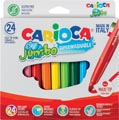 Carioca viltstift Jumbo Superwashable 24 stiften in een kartonnen etui