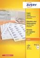 Avery DP167-100 étiquettes pour photocopieurs ft 105 x 37 mm (l x h), blanc, boîte de 1600 pièces