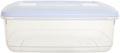 Whitefurze boîte de conservation rectangulaire 4 litres, transparent avec couverle blanc