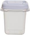 Whitefurze boîte de conservation carré 0,125 litre, transparent avec couverle blanc