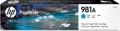 HP PageWide inktcartridge 981A, 6.000 pagina's, OEM J3M68A, cyaan