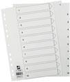 Q-Connect tabbladen set 1-10, met indexblad, ft A4, wit