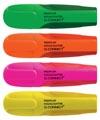 Q-Connect Premium markeerstift, geassorteerde kleuren, pak van 4 stuks