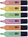 Q-Connect surligneur pastel, couleurs assorties, paquet de 6 pièces