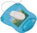 Q-Connect tapis souris gel avec repose-poignet, bleu