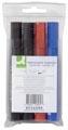 Q-Connect permanente marker, schuine punt, geassorteerde kleuren, etui van 4 stuks