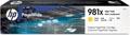 HP PageWide inktcartridge 981X, 10.000 pagina's, OEM L0R11A, geel