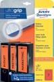 Avery Zweckform L4762-20 étiquettes pour classeurs à levier ft 19,2 x 3,8 cm (lxh), 140 étiquettes, rouge