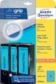 Avery Zweckform L4763-20 étiquettes pour classeurs à levier ft 19,2 x 3,8 cm (lxh), 140 étiquettes, bleu