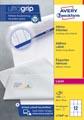 Avery étiquettes blanches laser ft 63,5 x 72 mm, 1200 pièces, 12 par feuille