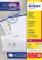 Avery L7173, Etiquettes d'expédition, Laser, Ultragrip, blanches, 100 pages, 10 per page, 99,1 x 57 mm