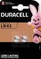 Duracell pile bouton Electronics LR43, blister de 2 pièces