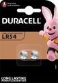 Duracell knoopcel Electronics LR54, blister van 2 stuks