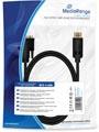 DVI naar DisplayPort Adapterkabel, vergulde contacten, DVI-D-contrastekker (24+1-polig)/DP-stekker, 2.0m