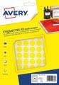 Avery PET15J etiquettes pastilles rondes, diamètre 15 mm, blister de 960 pièces, jaune