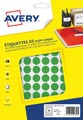 Avery PET15V etiquettes pastilles rondes, diamètre 15 mm, blister de 960 pièces, vert