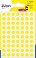 Avery PSA08J etiquettes pastilles rondes, diamètre 8 mm, blister de 490 pièces, jaune