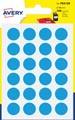 Avery PSA15B etiquettes pastilles rondes, diamètre 15 mm, blister de 168 pièces, bleu clair