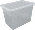 Whitefurze Spacemaster boîte de rangement 64 litre, paquet de 3 pièces, transparent