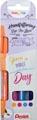 Pentel feutre pinceau Sign Pen Brush Touch, étui cartonné avec 4 pièces: orange, rose, turquoise & violet