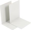 V-Part Boekensteun metaal, set van 2 stuks, lichtgrijs