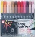 Sakura Koi feutre pinceau Coloring Brush Pen, étui de 24 pièces en couleurs assorties