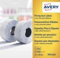 Avery YPLP1226 étiquettes pour étiqueteuse permanent, ft 12 x 26 mm, 15 000 étiquettes, jaune